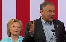 Clinton-Kaine ticket debuts