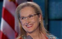 Actress Meryl Streep addresses the DNC