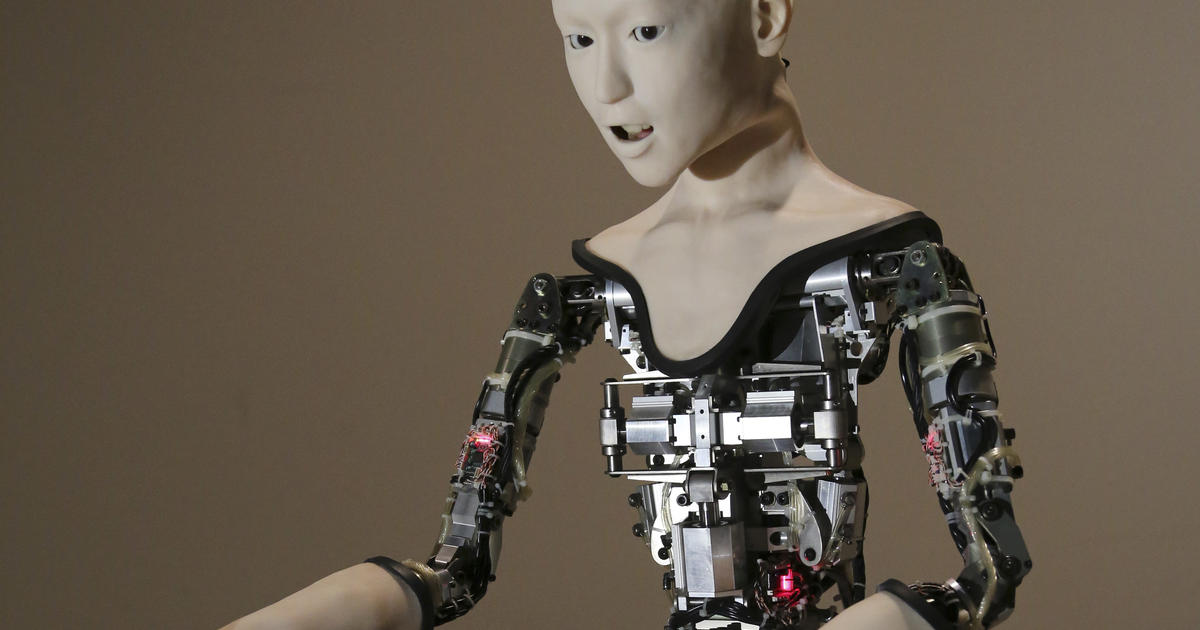 This creepy robot is powered by a neural network
