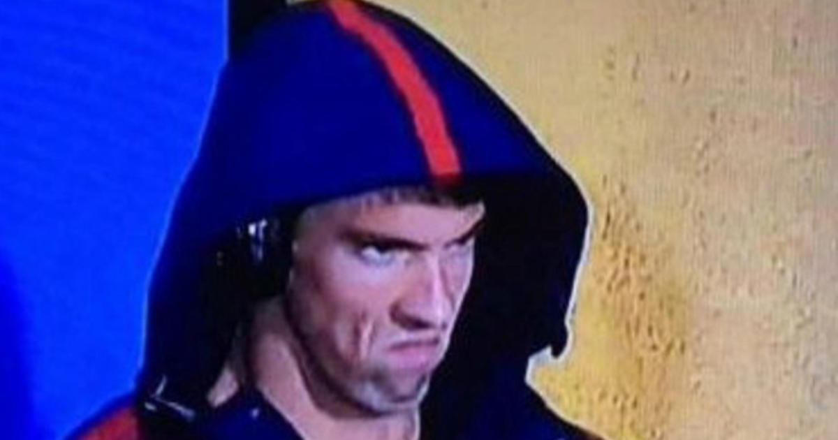 Michael Phelps Game Face Becomes Viral Meme Cbs News