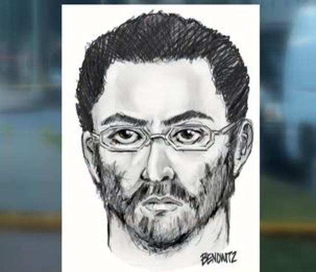 NYPD police sketch of main suspect in murder of Queens imam and companion; it was unclear if this is the man being interrogated by NYC police Monday