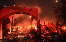 Wildfire ravages California town