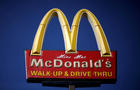 The logo of McDonald's is seen in Los Angeles, California, April 22, 2016.