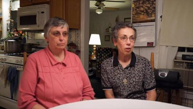 Sister Paula Merrill, left, and Sister Margaret Held, two nuns who worked as nurses and helped the poor in rural Mississippi, are seen in this image capture from video provided by Sisters of Charity of Nazareth.