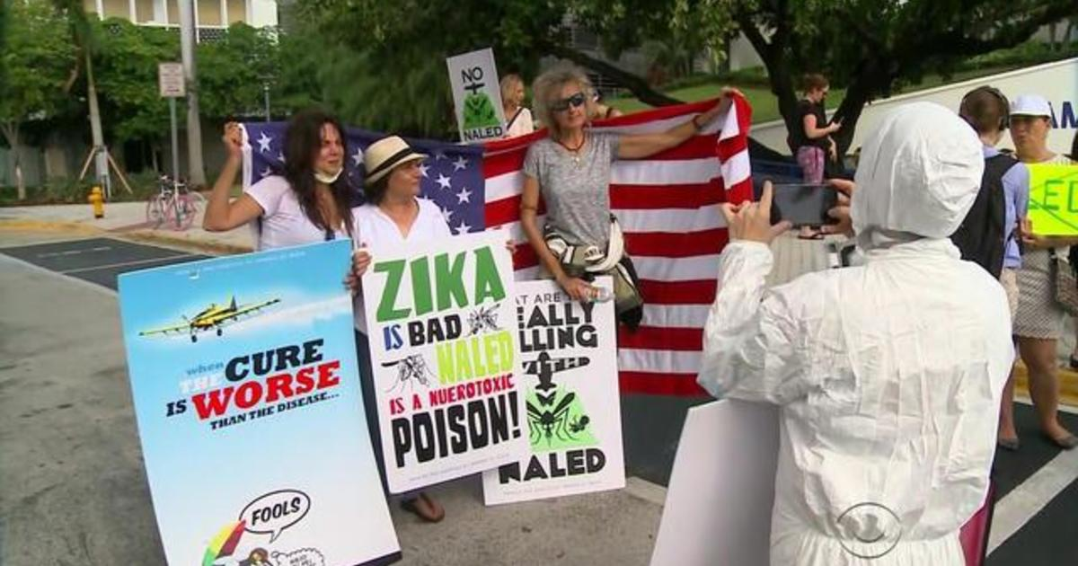 Tempers flare in Miami Beach over Zika spraying - CBS News