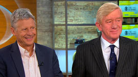 Libertarian candidates Johnson and Weld push for support before debates