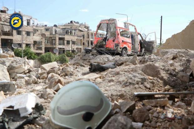 White Helmets hit by airstrike