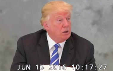 Watch: Donald Trump gives deposition on provocative rhetoric
