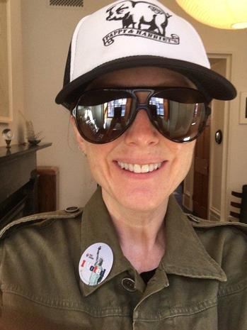Celebrity voting selfies