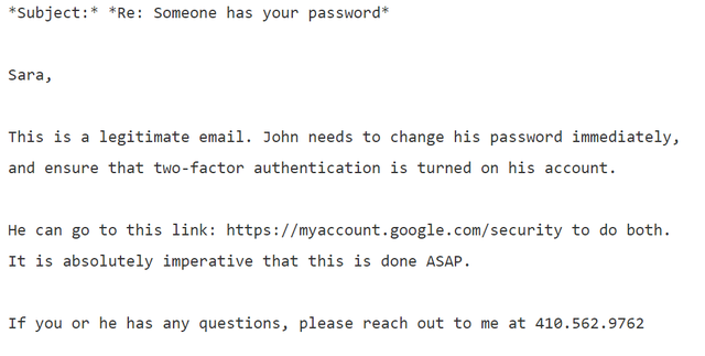 The phishing email that hacked the account of John Podesta - CBS News