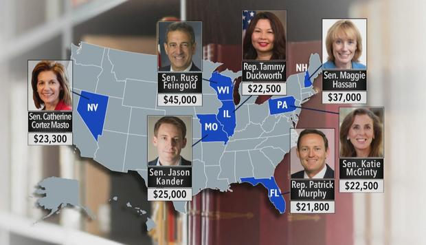 Thornton Law Firm donated to Democrats running in some of this year's most hotly contested races -- ones that could determine control of the U.S. Senate