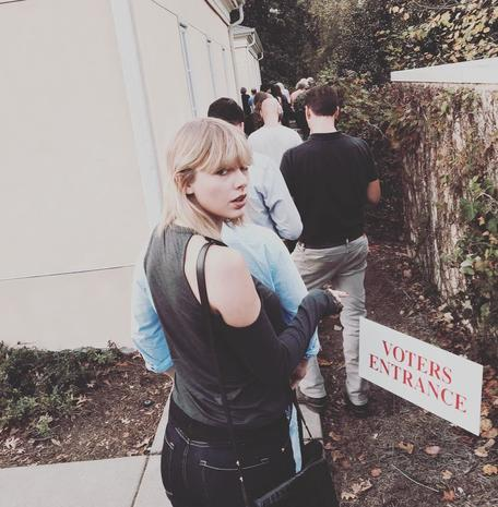 Celebrities hit the polls, urge fans to vote