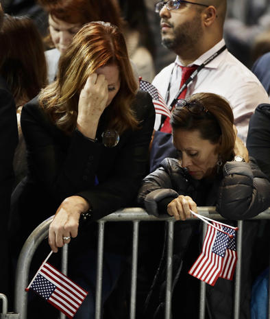 Clinton supporters react