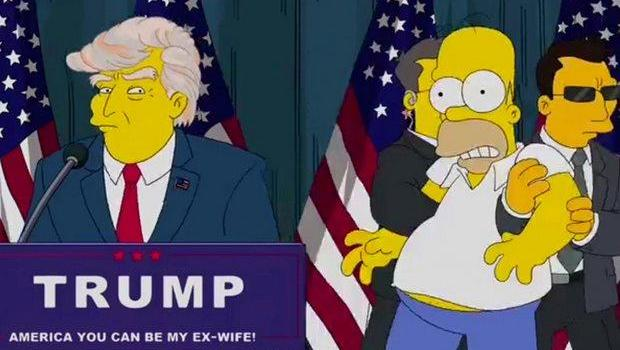 This Episode Of The Simpsons Predicted A President Trump CBS News - Simpsons predictions trump us map