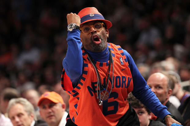 92beb23f223 New York Knicks  Spike Lee - Celebrity fans of every NBA team - Pictures -  CBS News