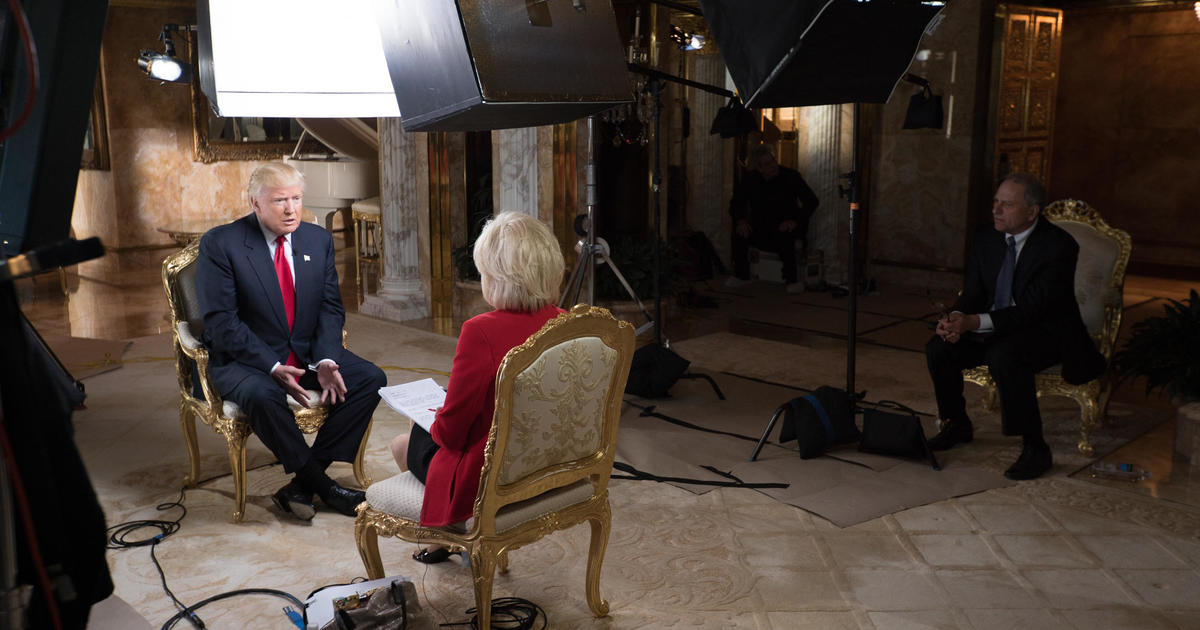 """In """"60 Minutes"""" interview, Donald Trump weighs Twitter use as president"""
