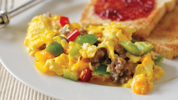scrambled-eggs-with-sausage-cheddar-and-peppers-ben-fink.jpg