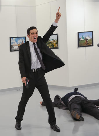 Russian Ambassador to Turkey gunned down at photo exhibit in Ankara