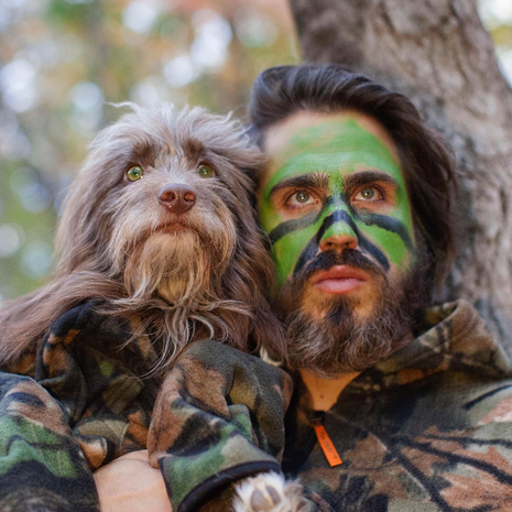 This guy and his dog bring twinning to a whole new level
