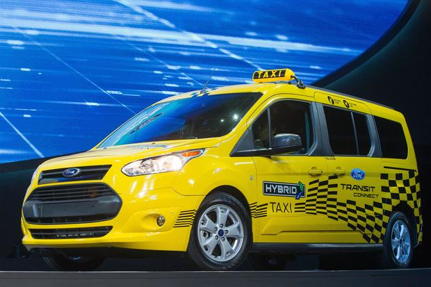 Ford Transit Connect Hybrid Taxi North American International Auto Show 2017 Pictures Cbs News