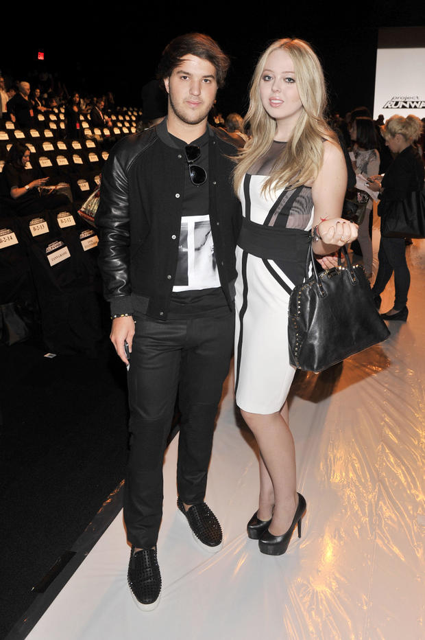 Tiffany Trump and Andrew Warren attend the Project Runway Spring 2014 fashion show during Mercedes-Benz Fashion Week in New York City in 2013.