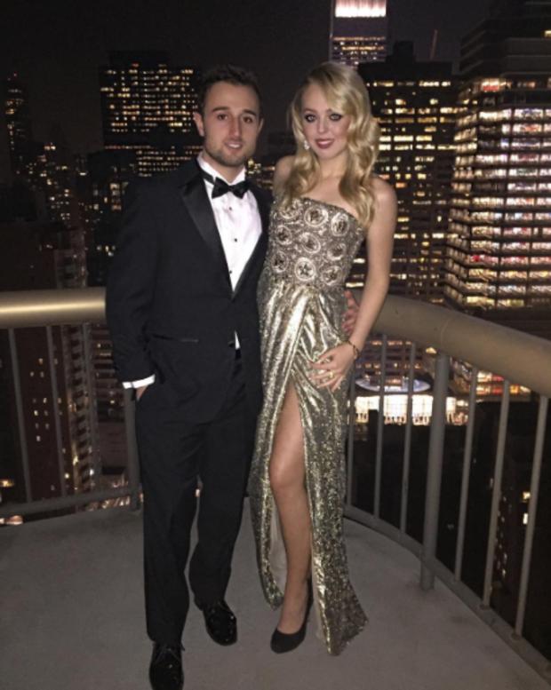 Tiffany Trump and boyfriend Ross Mechanic in 2015.