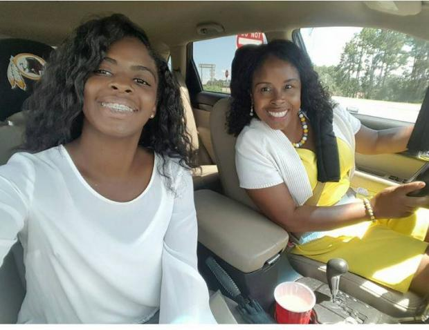 Kamiyah Mobley, left, and Gloria Williams