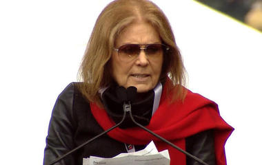 Gloria Steinem speaks at Women's March on Washington