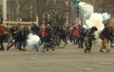 Dozens of groups in Washington protest Trump's inauguration