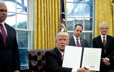 Trump signs three executive actions