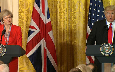 President Trump & UK PM May on Brexit, Russia, more