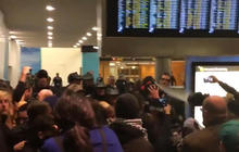 Protest erupts at Seattle-Tacoma airport