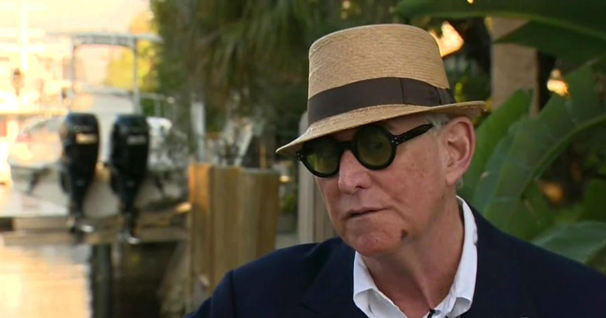 Roger Stone, longtime Trump adviser, claims hit-and-run was intentional -  CBS News