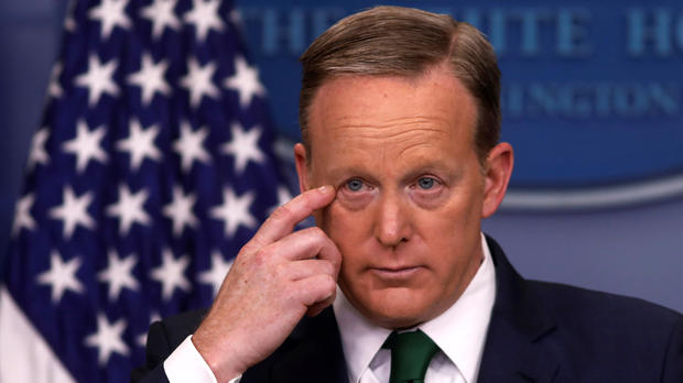 White House press secretary Sean Spicer holds his daily press briefing at the White House in Washington March 16, 2017.