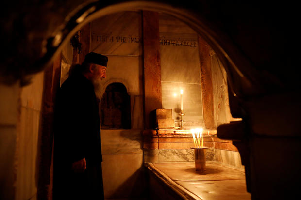 Historic restoration of Jesus' burial shrine