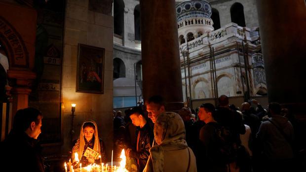 Historic restoration of Jesus' burial shrine