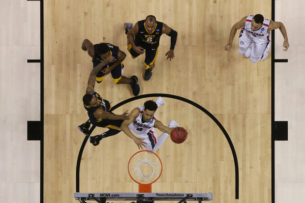 View from above of March Madness