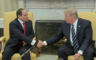 Trump praises Egyptian strongman