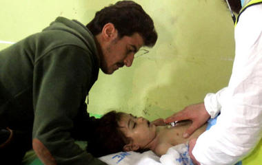 Russia denies involvement in reported Syrian chemical attack