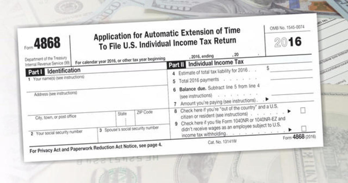 Your Tax Return Isn'T Due April 18 - Cbs News