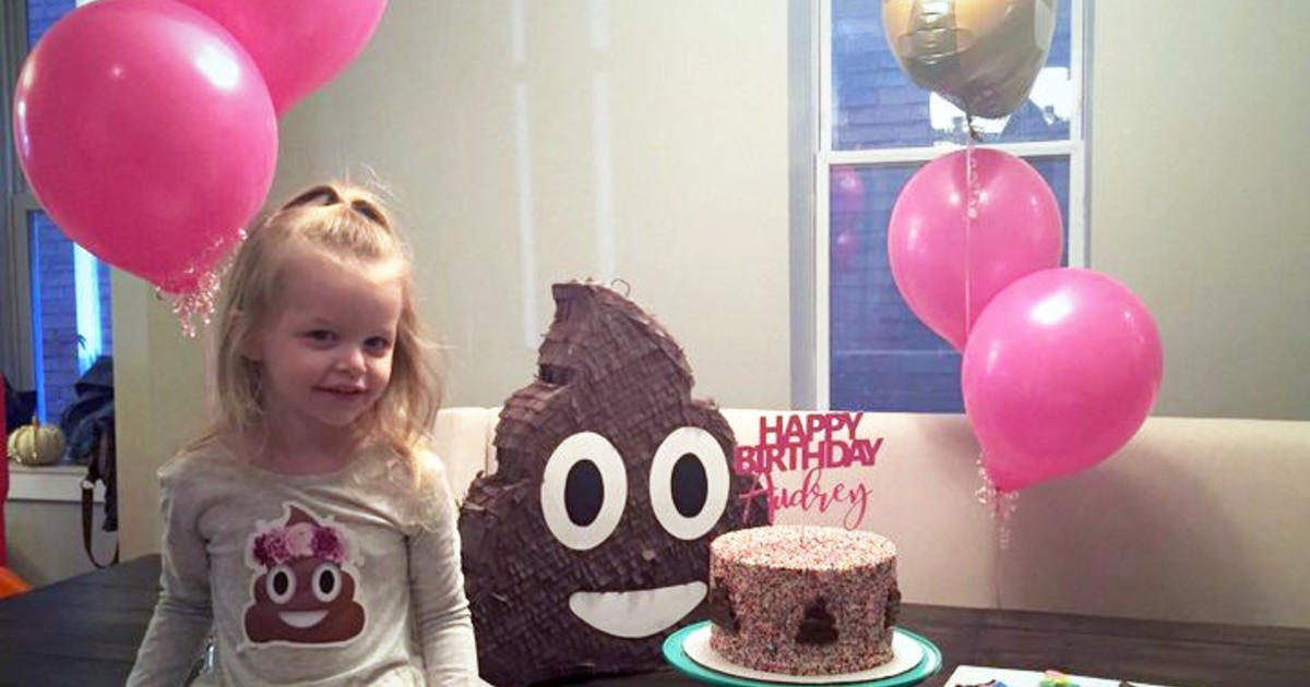Toy Story Stool : Spunky little girl insists on poop themed birthday cbs news