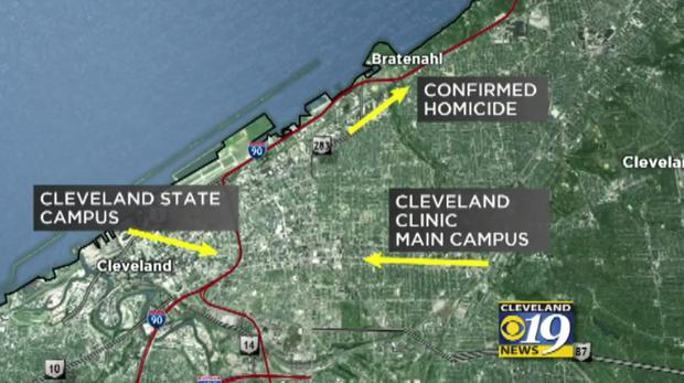 Facebook Live murder: Steve Stephens manhunt in Cleveland ... on cleveland euclid opportunity corridor, ohio map, orlando va medical center map, cleveland city limits map, jupiter medical center map, delray medical center map, banner gateway medical center map, university of north carolina at chapel hill map, peacehealth southwest medical center map, bay medical center map, cleveland state community college map, washington university school of medicine map, beth israel deaconess medical center map, metrohealth map, university of washington medical center map, harrison medical center map, cleveland street map, cleveland botanical gardens map, odessa regional medical center map, downtown cleveland map,