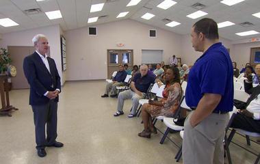 Alabama congressman faces tough questions at town-hall marathon