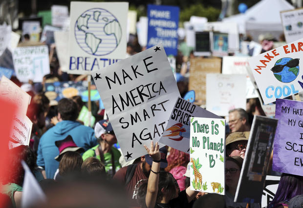 Marching for science against Trump, GOP policies