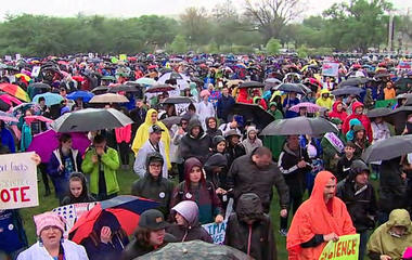 Marchers gather to defend science on Earth Day