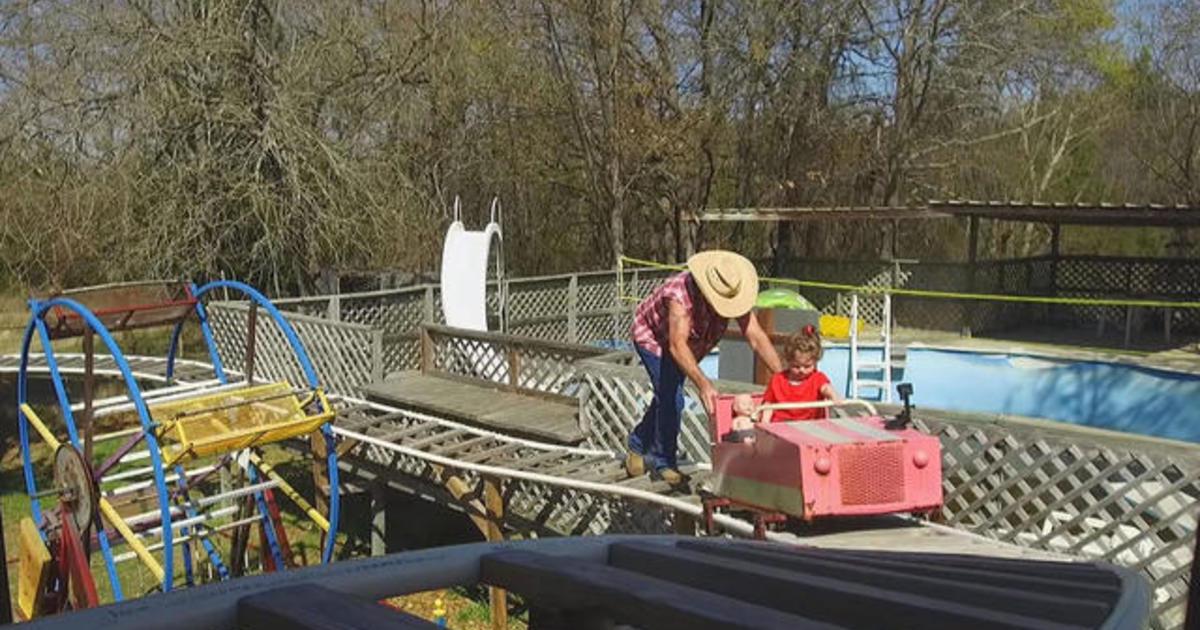 Grandpa Builds Theme Park For Granddaughter Cbs News