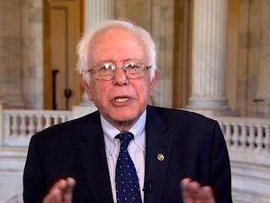 "Bernie Sanders blasts Trump's ""hypocrisy"""
