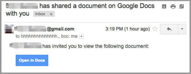 Beware unexpected Google Docs, the latest phishing scam