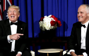 Bernie Sanders laughs at Trump for touting universal health care
