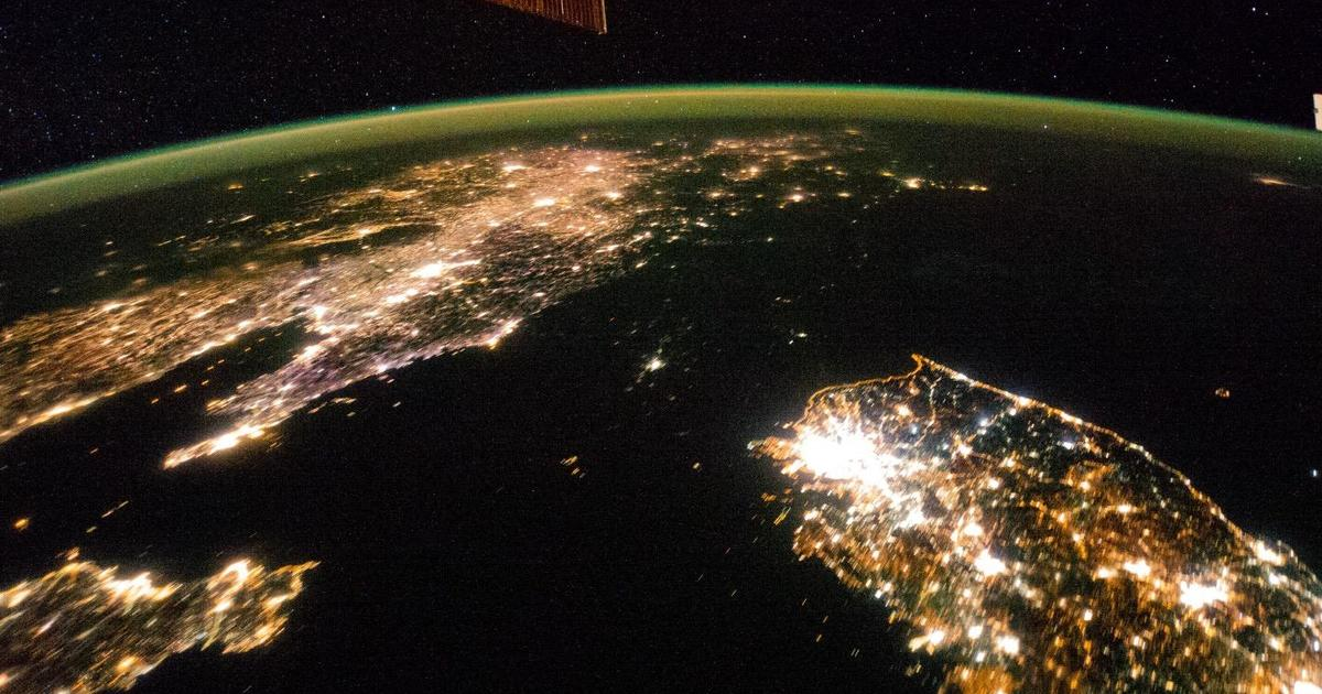 Dark and light north korea hermit country seen from space dark and light north korea hermit country seen from space pictures cbs news gumiabroncs Gallery